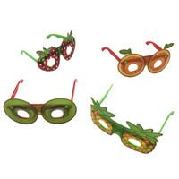 maskerade gläser großhandel-Maskerade Partei Leistung Obst Styling Brille Kinder lustige Dekoration Plastikspielzeug Brille Maske Tanzparty Geschenke