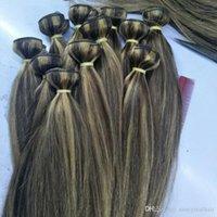 extensões remy misturadas do cabelo brasileiro venda por atacado-Cabelo Virgem brasileira onda Reta 4 Bundles Elibess Marca Dupla Tramas P4 Misto / 27 Extensões de Cabelo Humano Tece 14-26 polegada, Livre DHL
