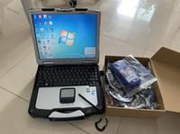 herramienta de diagnóstico opel usb al por mayor-Herramienta de escáner de camiones de servicio pesado NEXIQ USB Link Diagnostic 125032 enlace usb NEXIQ-USB LINK con computadora portátil cf30 pc de pantalla táctil