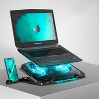 Wholesale macbook cpu resale online - 11 inch Cooling Fan Laptop Stand Portable Base CPU Laptop Cooler Holder For Macbook Air Pro Computer Cooling Bracket