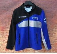 erkekler için pamuklu motosiklet ceketi toptan satış-YAMAHA Fabrika Sport Binme Motosiklet Kazak Windproof Motokros Jacket İçin Yeni Erkekler Fermuar Kapüşonlular MOTO GP Pamuk Ceket.