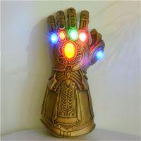 gants lumineux achat en gros de-3 styles en option Vengeurs 4 Endgame Thanos Gants lumineux Iron Man Latex naturel Infinity Gauntlet Jouets scintillants L141