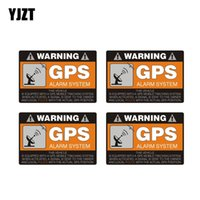Wholesale windshield warning sticker for sale - Group buy YJZT X CM CM Warning Car Sticker GPS Alarm System Decal PVC