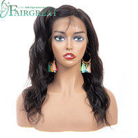 Wholesale short human hair wigs for sale - Body Wave Lace Front Human Hair Wigs For Women Pre Plucked Brazilian None Remy Hair Wigs Bleached Knots Baby Hair