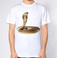 cobra t-shirt achat en gros de-T-shirt Cobra SNake T-shirt en cuir croate