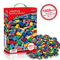 spielzeug gebäude ziegelsteine marken großhandel-1000 stücke modellbau kits klassische blöcke diy spielzeug kreative ziegel groß figuren pädagogisches für kinder kinder kompatibel alle marken