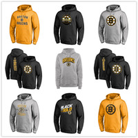 Wholesale boston logos for sale - Group buy Men s Boston Bruins Hoackey Hoodies Branded Black Ash Yellow Gray long Sleeve Outdoor wear Sport jacket fans on sales printed logos