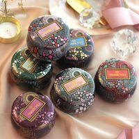 Wholesale tea storage tins resale online - Gold Plated European Tea Candy Jewelry Storage Box Candle Jar Christmas Small Iron Box Wedding Favor Tin Box House Decor