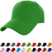 Solid Color Baseball Cap 23 Colors Adjustable Outdoor Sports Hip Hop Plain  Baseball Visor Hats OOA6455 886df2d5e9d1