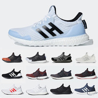 m spor izlemek toptan satış-Adidas Game of Thrones Ultraboost Ultra boost 4.0 Running shoes House Targrayen Stark Lannister Primeknit White Walker Nights Watch sports sneakers