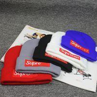 sombreros de los hombres de invierno gorras al por mayor-Diseñador de sombreros Marca Sup Beanie Winter Warm Hat Beanibes para mujeres y hombres Casquette Acrílico Palabras Cap