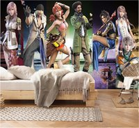 Wholesale modern fashion games resale online - Custom Photo Wallpaper d Internet Cafe Fashion Game Characters Living Room TV Background Bound Wall Painting Wallpaper