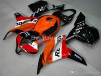 Wholesale honda fairings for sale - Group buy Injection molding plastic fairing kit for Honda CBR RR orange black fairings set CBR600RR XS05