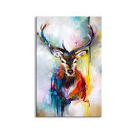 ölgemälde tiere abstrakt großhandel-moderne Ölgemälde des Wanddekor-Ölgemäldes auf Segeltuchzusammenfassungsmalerei Tierkunst moderne Malereien DW1-002