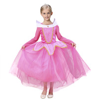 ingrosso abito di compleanno di principessa rosa-Princess Pink Girls Pageant Dresses Little For Girls Gowns Party Birthday 2019 Toddler Kids Ball Gown Glitz Flower Girl Dress per matrimoni