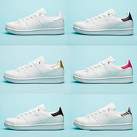 Wholesale stan smith red for sale - Group buy Designer shoes Chaussures smith stan for Mens flats shoes Red Blue Silver triple white black womens sneaker Outdoor Casual shoes size