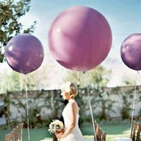 Wholesale ball shaped balloons resale online - 50pcs inch Giant Latex Balloons Heart Shaped Helium Balloon Wedding Birthday Party Decoration Balls Gifts Toys Globos Balony