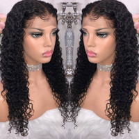 Wholesale human hair wigs 18 inch for sale - Group buy 9A Grade Kinky Curly Brazilian Human Hair Wigs Peruvian Kinky Curly Human Hair Ear To Ear Lace Frontal Wig x13 Human Hair Lace Front Wig