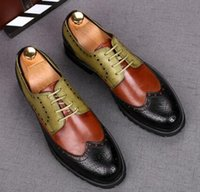 Wholesale business casual brown shoes for sale - Group buy 2020 Men casual Leather shoes formal shoes Men Dress Shoes Business style Luxury Italian Style Fashion Men Thick Bottom shoe