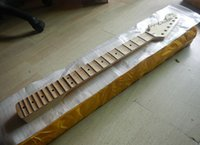 Wholesale guitars necks left hand for sale - Group buy Top quality Canadian maple ST neck Scalloped Groove refers to the board Guitar Neck fret left hand st guitar neck