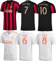 jerseys de fútbol unidos al por mayor-2019 MLS Atlanta United FC Camisetas de fútbol MARTINEZ # 10 G.MARTINEZ 19/20 Atlanta United FC Local rojo negro Camiseta de fútbol 2020 Uniforme de fútbol