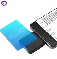 Wholesale em cards for sale - Group buy 10sets KHz Portable Smart Proximity ID Card Scanner RFID EM Card Reader Android For Mobile Phone with Mini Micro USB Without Driver R65D