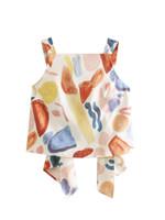 dame strumpfhalter frei großhandel-Frauen kleidet ärmellose Hosenträger Anstrichdruckoberseitenbluse der Euromode-Artfrauen elegante Damebluse freies Verschiffen