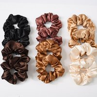 Wholesale woman stretch velvet for sale - Group buy Women Satin Velvet Scrunchie Stretch Ponytail Holders Elastic Hairbands Solid Color Ladies Hair Ropes Hair ties Accessories