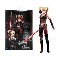 Wholesale batman pvc action figure resale online - Suicide Squad Batman Begins Harley Quinn Figure Arkham City with Baseball Bat and Gun Action Figures Model Toy Doll Gift