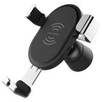 kullanılmış araba stantları toptan satış-QC3.0 Içinde Araba Kablosuz Indüksiyon Şarj Cep Telefonu Için Tüm Araba Kullanımı Ayarlanabilir Braketi 5 W 10 W Hızlı Şarj Standı Iphone Samsung Için Şarj