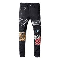 vieux jeans achat en gros de-Pantalon classique de concepteur de jeans de concepteur de pantalon de nostalgique 70 ans de style mens droit mince biker maigre USA jeans hommes femmes jeans déchirés