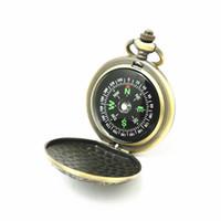 ingrosso orologi da polso-Retro Compasso Flip In lega di zinco Pratico portatile New York Mappa Modello Orologio da tasca Piccolo e squisito regalo esterno 11 6mwD1