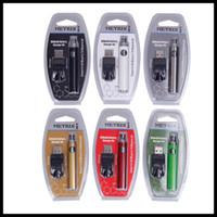 logos de hilo al por mayor-Metrix Preheat Blister Battery 650mAh / 200mah Vertex Preheat Voltaje variable VV Cargador USB Vape Pen Kit para cartuchos de 510 hilos con LOGO