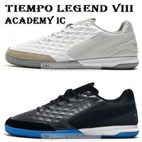 мужская футбольная обувь оптовых-Дети с низким голеностопного бутсы Tiempo Legend Молодёжная VIII Академия IC Футбольная обувь Мужчины Женщины TIEMPOX Lunar Legend 8 Крытый футбольные бутсы