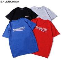herren kapuzenbriefe großhandel-Designer Herren Top T-Shirt Casual Women T-Shirt Größe S-2XL Buchstaben Druck Sommer Hoodie Paris Fan Herren Luxus T-Shirt
