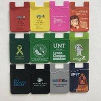 id halter flip brieftasche großhandel-Handy-Portemonnaie Silikonkleber zum Aufkleben auf Kreditkartenetui Ultra-Slim Id-Halter-Portemonnaie-Etui Tasche anpassbar