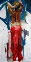 Wholesale nude women painting art for sale - Group buy A naked woman Home Decor Handpainted HD Print Oil painting On Canvas Wall Art Canvas Pictures