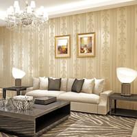 arte de la pared de flores amarillas al por mayor-3D en relieve Papel tapiz de flores Escritorio Rosa 3D Papel tapiz floral Moderno Salón Papel de pared No tejido Decoración para el hogar Arte amarillo