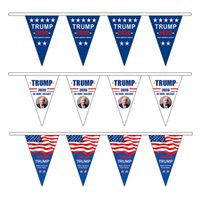 Wholesale triangle american flag for sale - Group buy American Triangle Pull Flag Trump Make America Great Again Flags Party Decoration Hanging Banner American Flag RRA2025