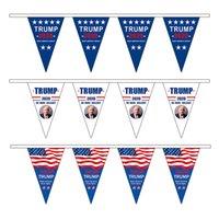 üçgen amerika bayrağı toptan satış-Amerikan Üçgen Çekme Bayrak Trump 2020 Amerika Büyük Yapmak Tekrar Bayrakları Parti Dekorasyon Asılı Afiş Amerikan Bayrağı RRA2025