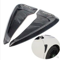 ailerons de requins achat en gros de-2pcs Pour BMW X Series X5 F15 F85 X5M Shark Gills Side Vent Autocollants ABS voiture garde-boue avant Side Air Vent couverture Garniture voiture carbone Accessorie