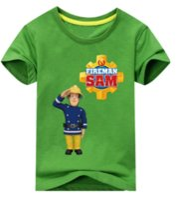 dd9789b3e New Style Children 3D Cartoon Fireman Sam Print Cotton Fashion T-shirts for Boy  Shirt Girl Short Sleeve Tee Tops Clothes Kids Clothing U1623
