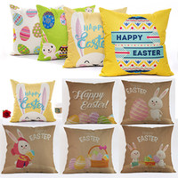 Wholesale free easter eggs for sale - Group buy Easter Rabbit Egg Pillow Covers Cushion Cover Glamour Square Pillowcase Cushion Cover Home Office Sofa Car Decoration Free DHL WX9