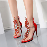 gold fersen schuhe diamanten großhandel-Sonderverkäufe Qualität Euramerican Style Damen sexy High Heels Sommer Pfennigabsatz hohe obere Sandalen Goldverschluss mit Diamant Single Schuhe