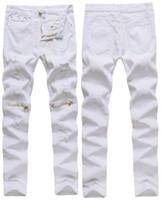ingrosso gambali cerniera a ginocchio-cerniere del ginocchio dei nuovi uomini liberi di trasporto, allentamenti della fessura pura, piccoli leggings, pantaloni della molla, 0303