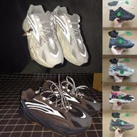 ingrosso onda verde-Stock X Tag Kanye 700 Static Geode 3M Riflettente Wave Runner Uomo Sneaker Donna Analog Vanta Verde Designer Sneakers Scarpe da corsa Stockx
