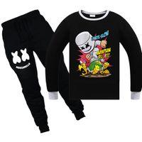 Wholesale girls double breasted jacket online - Kids Clothes Boys Marshmello DJ Music Battle Victory Royale Pyjamas Big Boys Christmas Pajamas Clothing Girls Homewear