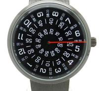 ingrosso orologio digitale quadrante nero--Paidu nero / argento cinturino in metallo con cinturino in rete al quarzo Orologio da uomo giradischi quadrante digitale regalo da polso
