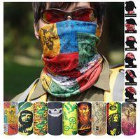 Wholesale hip hop scarves bandanas resale online - Cycling Bandanas Outdoor Cycling Masks Scarves Magic Turban Riding Hip Hop Caps Outdoor Sunscreen Hair Band Motorcycle Wraps Headwear E145