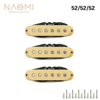 conjunto de pastillas de guitarra eléctrica al por mayor-NAOMI Pickup de Guitarra 3 UNIDS / Set Single-coil Guitar Neck Pickup Guitarra Eléctrica Pickup Neck / Middle / Bridge 52mm